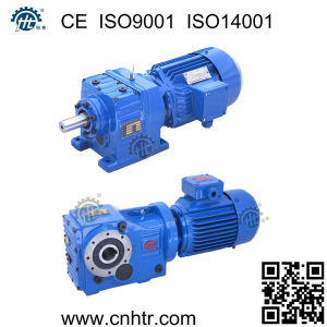 Helical Bevel Electric Motor Reduction Gearbox pictures & photos