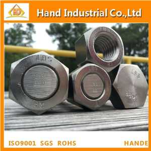 High Strength ASME/ANSI B 18.2.1 ASTM A325 A193 B8 1/2′′ 2′′ Stainless Steel Heavy Hex Bolts and Nut pictures & photos