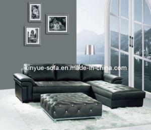 Modern Livring Room Bedroom Leather Corner Sofas