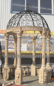 Sandstone Garden Gazebo for Antique Outdoor Garden Stone Marble (GR062) pictures & photos