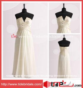 Wedding Party Gown Evening Dress Chiffon Pleat Plus Size Bridesmaid Dress (TC06663)