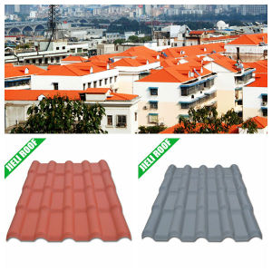 PVC Plastic Roof Tile Corrugated Roofing Sheet Spanish Style 720 pictures & photos