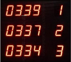 """LED Sign (for Queueing up, 4"""" Digits) (RCG8Rx3IT)"""