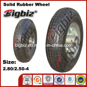 Custom Blue Thermoplastic Industrial 2.80/2.50-4 Rubber Wheel pictures & photos