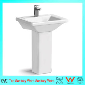 Wholesale Best Price Square Sink New Design White Wash Pedestal Basin pictures & photos