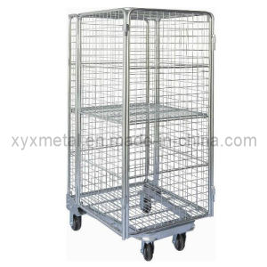 Newest Style Full Security 4 Sides Logistics Trolley Roll Container pictures & photos