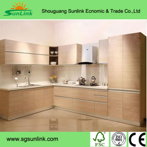 Artificial Wood Veneer Kitchen Cabinet Doors for Kitchen Use pictures & photos