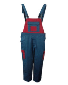 High Quality CVC Bib Working Pant with Assorted Color (HS-P003)