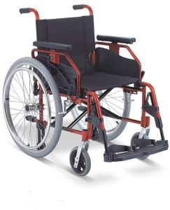 Luxurious Multi-Functional Aluminum Manual Folding Wheelchair pictures & photos