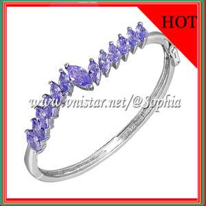 Purple Cubic Zirconia Bracelet & Bangle