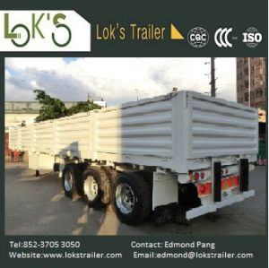 40 Feet 3 Axles Walled Soil Semi Trailer pictures & photos