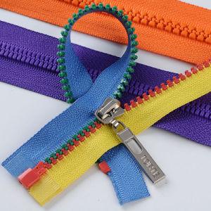 Fashion Multi-Colored Open End Plastic Zipper pictures & photos