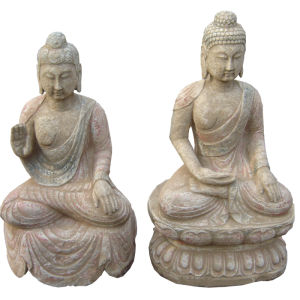 Antique Stone Buddha (SH837, SH836) pictures & photos