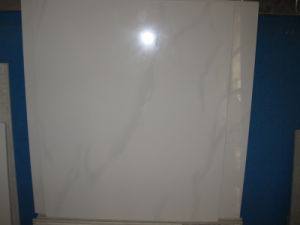 60X60cm Super White with Grey Cloudy Features Polished Tiles (FA0603) pictures & photos