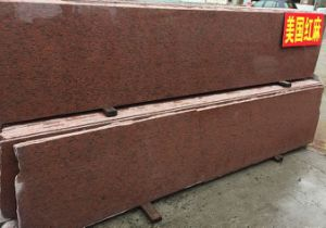 Cheapest Camelia Pink/American Red Granite Paving/Patio Construction Foundation Strips Slabs pictures & photos