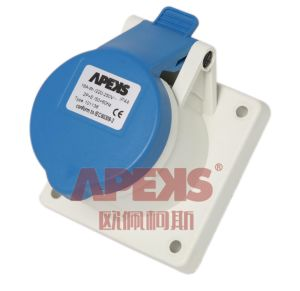 Industrial Socket/IP44/Panel Mounted/Straight pictures & photos