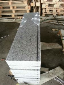 Polished G603 Granite Tile, Stairway, Step with Anti-Slip Strip, PVC