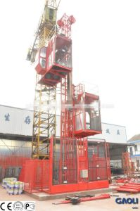 4 Tons Double Cage CE & GOST Approved Construction Elevator/Lifting Hoist pictures & photos