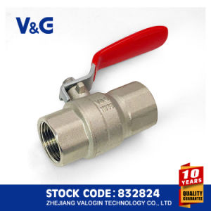 CE and Acs Steel Handle Brass Ball Valve (VG-A11011) pictures & photos