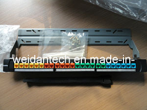 Cat5e UTP 24 Port Ajustable Rack Mount Patch Panel pictures & photos