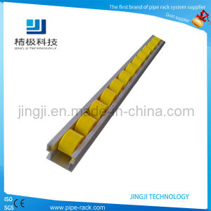 40mm Yellow First in First out Flow Roller Curtain Track with 4000mm Per Bar