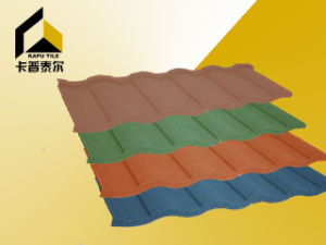 Stone Coated Metal Roofing Tiles, Sierra′u′,1320*420*0.42mm, Multicolors, White