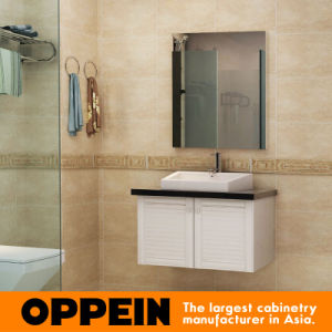 Oppein Classic White Cherry Wood Bathroom Vanity (OP15-072B) pictures & photos