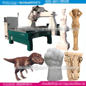 3D Copy CNC Rotary Wood Carver Cutting Engraving Router Machine pictures & photos