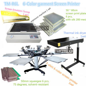 TM-R6k Hot Sale 6-Color Manual T-Shirt Textile Screen Printing Machine pictures & photos