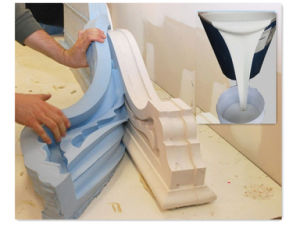 RTV Silicone Rubber for Plaster Cornice Mold Making (MCSIL-M30) pictures & photos