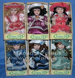 "8"" Porcelain Sitting Doll"