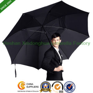 "68"" Arc Vented Windproof Fiberglass Golf Umbrella for Man (GOL-0034FD) pictures & photos"