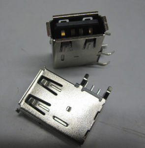 USB a Type Receptacle Angle Upright DIP Body, Reverse Type pictures & photos