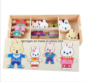 Puzzle Game Magnetic Stickers Wooden Toy DIY with Best Material pictures & photos