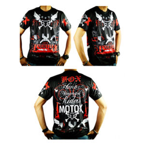 New Model Black Breathable Short Sleeve Motorcycle Jersey (ASH20) pictures & photos