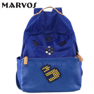 2016 New Fabric with Leather Backpack BS13660 pictures & photos
