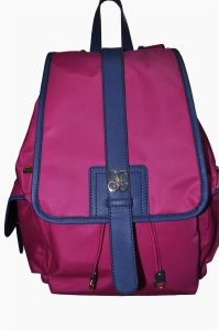 B Three Nylon with Cow Leather Backpack (BS13086)