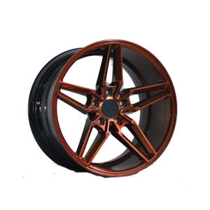 Red Painted Inner Groove 18 Inch Alloy Wheel UFO-LG17 pictures & photos
