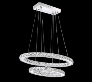 Round LED Chandelier with 2/3 Layers Crystal Shade (WH-0103Z) pictures & photos