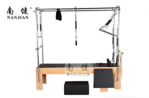 Nanjian Beech/Maple Wood and Stainless Steel Pilates Reformer with Full Trapeze pictures & photos