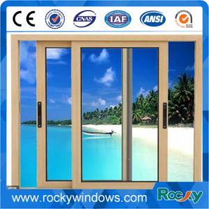 Wooden Color Aluminium Sliding Window pictures & photos