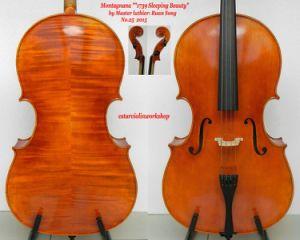 Master Cello! 4/4 Montagnana 1739 Sleeping Beauty Cello Model! Oil Varnish! Vintage Cello! Hand Made Cello!