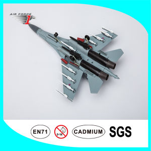 Diecast Airplane Model Su35 with Alloy and ABS Material Camo Color