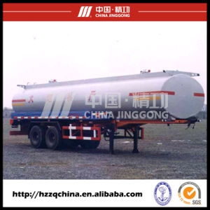28600L Carbon Steel Q345 Tank Trailer for Light Diesel Oil Delivery (HZZ9290GYY) with Good Price pictures & photos