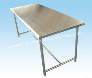 Modern Stainless Steel Table for Kitchen (HS-043) pictures & photos