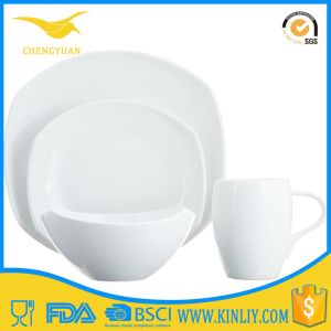 Hot Sale Exquisite Gift White Melamine Plastic Dinner Set pictures & photos