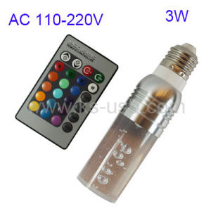 E27 3W RGB Crystal Flash LED Light Bulb with Remote Controller, AC 110-220V (Silver) (KLED-5026)