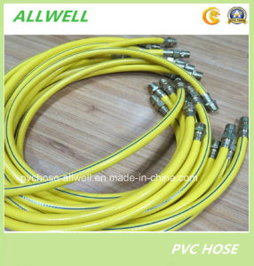 "PVC Yellow Garden Water Hose with Coupling 1/2"" pictures & photos"