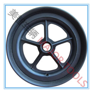 10 Inch Flat Free PU Foam Lawn Mover Wheel Smooth Tyre pictures & photos