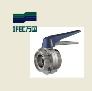 Sanitary Thread Butterfly Valve (IFEC-DF100002) pictures & photos